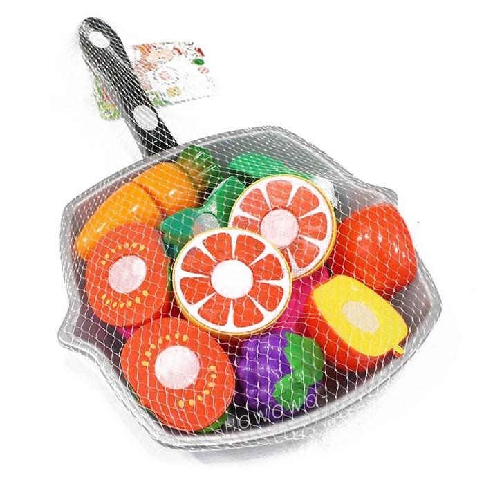 水果百匯切切樂 (10入) 玩具蔬果 水果 蔬菜 食物 切切樂 扮家家酒 兒童玩具 3016