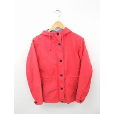 【中古】ティンバーランド Timberland 国内正規品 ジャケット アウター マウンテンパーカー 刺繍 ワンポイント M 赤 レッド