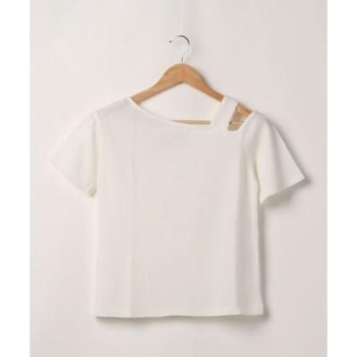 tシャツ Tシャツ ワッフルアシメプルオーバー*