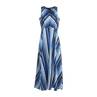 LANACAPRINA ロングワンピース&ドレス ブライトブルー 46 ポリエステル 78% / レーヨン 22% ロングワンピース&ドレス