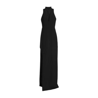 MICHELLE MASON ロングワンピース&ドレス ブラック 0 ポリエステル 63% / レーヨン 32% / ポリウレタン 5% ロングワン