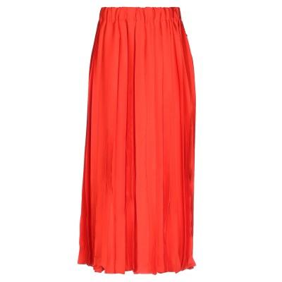 エリカ カヴァリーニ ERIKA CAVALLINI 7分丈スカート コーラル 42 ポリエステル 100% 7分丈スカート