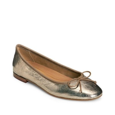 エアロソールズ サンダル シューズ レディース Women's Homerun Ballet Flat Sandal Champagne Metallic Leather