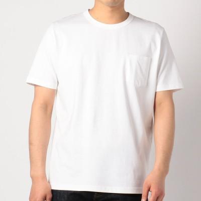 メンズ 【在庫限り】クルーネック半袖Tシャツ ホワイト L
