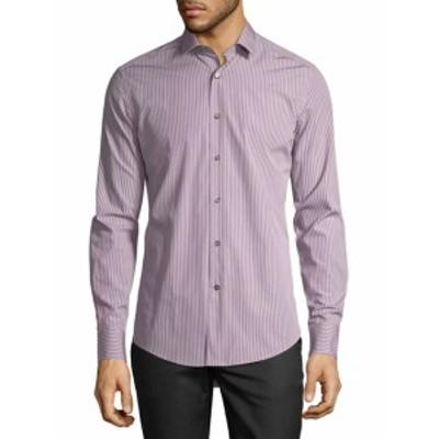 ランバン メンズ カジュアル ボタンダウンシャツ Pinstripe Sport Shirt