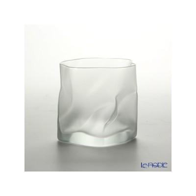 小松誠デザイン COM CRUMPLE フロスト オールドファッション 300cc グラス