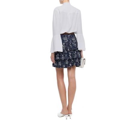 マイケル コース MICHAEL MICHAEL KORS レディース ブラウス・シャツ トップス Pussy-bow fluted washed-silk blouse White