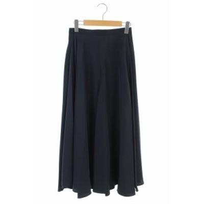【中古】ロッソ ROSSO アーバンリサーチ ロングスカート フレア 36 紺 /HH ■OS レディース