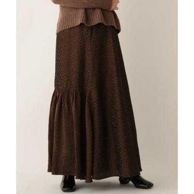 スカート 総柄ジャカードマキシスカート