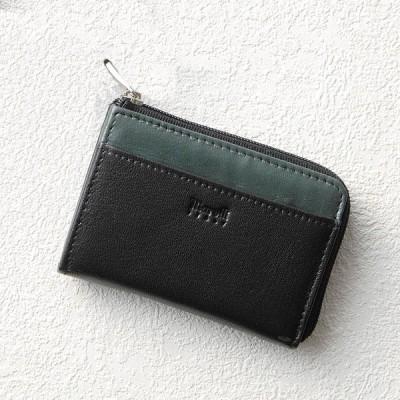 マレリー 小銭入れ ブラックXグリーン MPR6330 財布・小物
