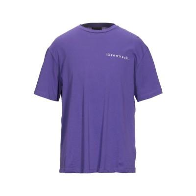THROWBACK. T シャツ パープル S コットン 100% T シャツ