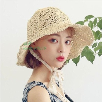麦わら帽子 折りたたみ レディース 大きいサイズ 夏 オシャレ 柔らかい 日焼け 軽い UV 可愛い 日焼け防止小顔 かわいい 春 つば広 ハット