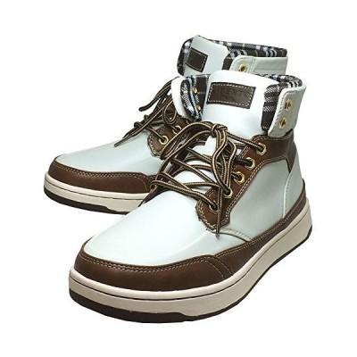 [エドウィン] 防水 メンズブーツ レインシューズ スノーブーツ スニーカー 靴 (ホワイト/キャメル 29cm)