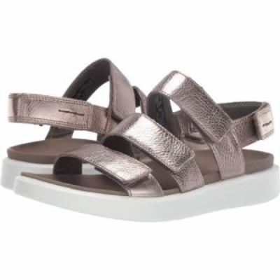 エコー ECCO レディース サンダル・ミュール シューズ・靴 Flowt 3 Strap Sandal Warm Grey Metallic Cow Leather