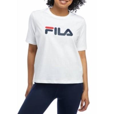 フィラ レディース Tシャツ トップス Women's Short Sleeve Eagle Graphic T-Shirt WHITE  100