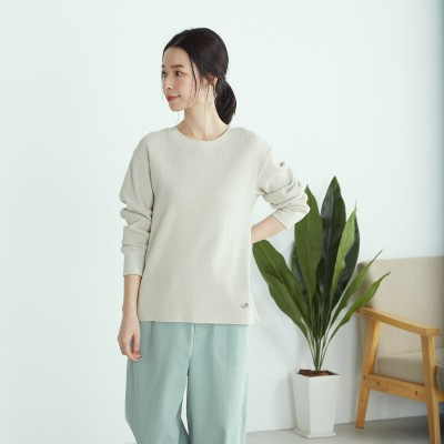 コムサイズム COMME CA ISM 【一部店舗限定】オーガニックコットン Tシャツ (ベージュ)