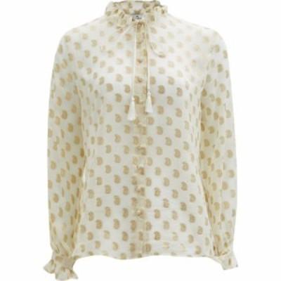 エトロ Etro レディース ブラウス・シャツ トップス Breton paisley fil-coupe silk-georgette blouse Cream