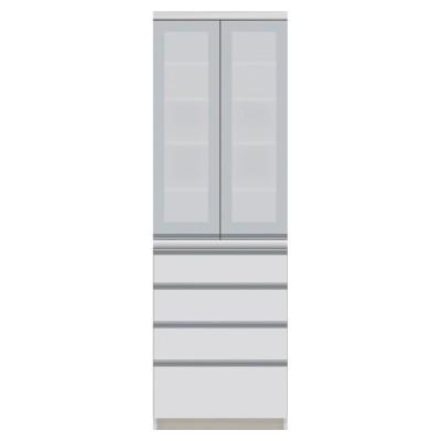 サイズが豊富な高機能シリーズ 食器棚引き出し 幅60奥行50高さ187cm/パモウナ JZ-600K ホワイト