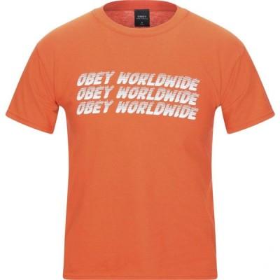 オベイ OBEY メンズ Tシャツ トップス t-shirt Orange
