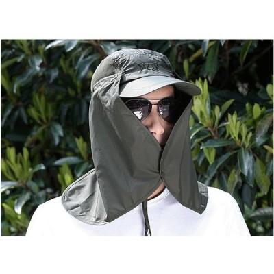 帽子 メンズ レディース UVカット帽子 ハット 男女兼用 紫外線対策用 ワーク アウトドア 日よけ 取り外し可能 釣り 登山 農作業 春夏 新作