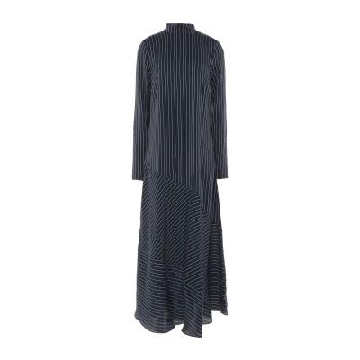 ガニー GANNI ロングワンピース&ドレス ダークブルー 36 シルク 92% / ポリエステル 8% ロングワンピース&ドレス