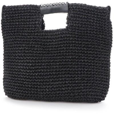 キュリビスキュイ CURI BISCUI クラッチ兼用 夏素材トートバッグ (Black)