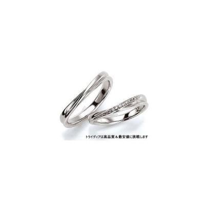 K18WGホワイトゴールドリング結婚指輪Wishウィッシュ写真左WS408