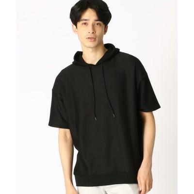 COMME CA ISM/コムサイズム フードTシャツ ブラック M