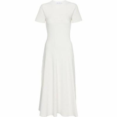プロエンザ スクーラー Proenza Schouler レディース ワンピース ミドル丈 ワンピース・ドレス white label ribbed-knit midi dress Off