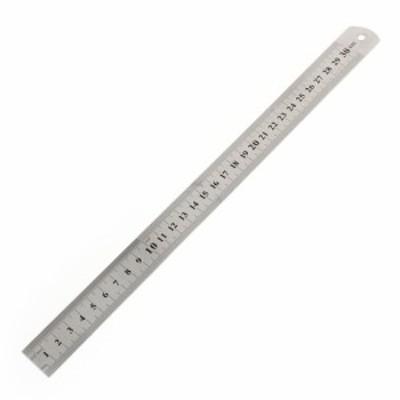 uxcell 直定規 ステンレス ダブルサイド 文房具用 30cm