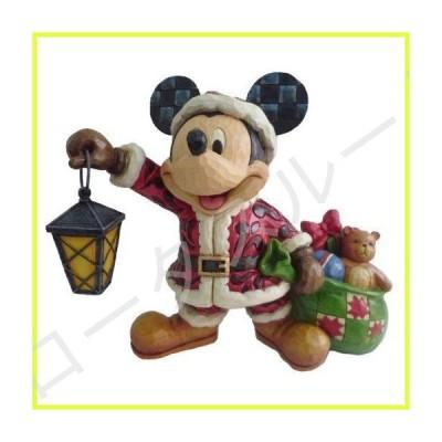 Enesco Disney Traditions by Jim Shore Santa Mickey with Lantern Figurine, 6.5-Inch 141[並行輸入] 並行輸入品