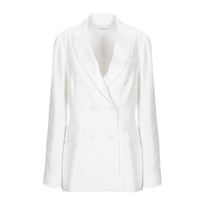 パロッシュ P.A.R.O.S.H. テーラードジャケット ホワイト M ポリエステル 100% テーラードジャケット