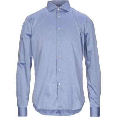 トレンドコルネリアーニ TREND CORNELIANI メンズ シャツ トップス Solid Color Shirt Blue