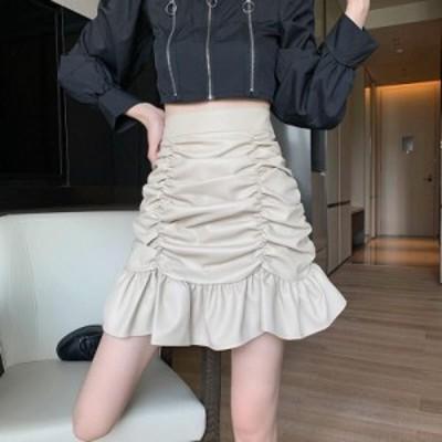 レディース ハイウエストショートスカート セクシー タイトスカート OL 通勤 オフィス 二次会 ボトムス 大人上品なAラインスカート
