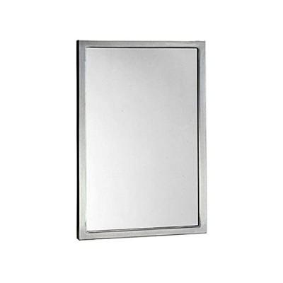 Bobrick 290 Series 304 Stainless Steel Welded Frame Glass Mirror, Satin Fin