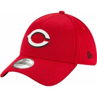ニューエラ メンズ 帽子 アクセサリー New Era Men's Cincinnati Reds Red 39Thirty Clubhouse Stretch Fit Hat -