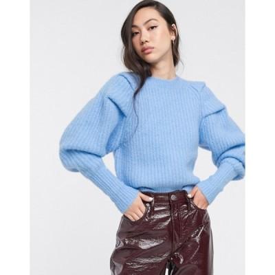 ウィークデイ レディース ニット・セーター アウター Weekday Vanetia knitted sweater in light blue