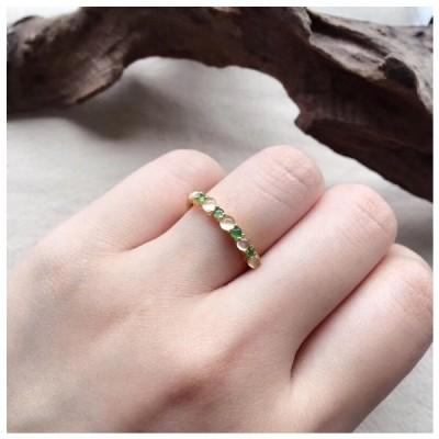 ★受注制作★ 483 特売 k18金リング ゴールド 翡翠リング ダイヤモンドリング 指輪 ピンクゴールドリング 母の日 プレゼント