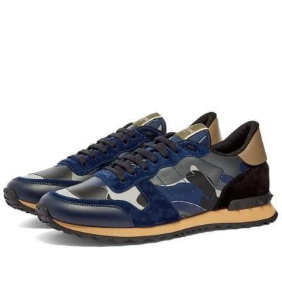ヴァレンティノ Valentino メンズ スニーカー シューズ・靴 Rockrunner Sneaker Navy/Beige/Metallic
