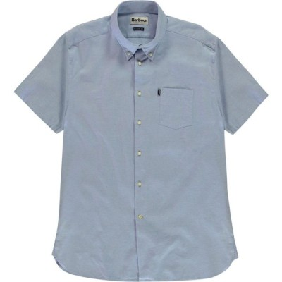 バブアー Barbour Lifestyle メンズ 半袖シャツ トップス Barbour Short Sleeve Tailored Shirt Blue