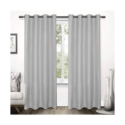 Exclusive Home Curtains ツイードテクスチャーリネン遮光ウィンドウカーテンパネル 2枚組 グロメットトップ 52x96インチ ド