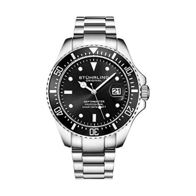 Stuhrling Original Mens Dive Watch - Pro Sport Diver with Screw Down Crown and Water Resistant to 330 Ft. - Analog Dial, Quartz Movement - Depthmaster