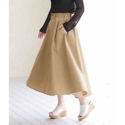 【ビス/ViS】 【WEB限定】チノ&デニムボリュームスカート