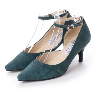 ジェミニ GeMini ミドルヒールストラップパンプス (Green)