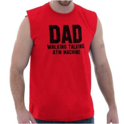 メンズ 衣類 トップス Dad Sleeveless T Shirts Tees For Men Walking Talking ATM Machine Fathers Day グラフィックティー