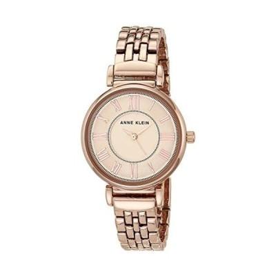 Anne Kleinローマ数字ブレスレット腕時計ローズゴールドトーン (ローズゴールド One Size)