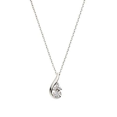 ネックレス プラチナ ダイヤモンドドロップネックレス