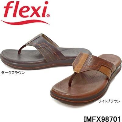 フレクシィ flexi IMFX 98701 レザー トング サンダル はなお 本革 メンズ