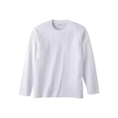 Tシャツ メンズ レディース 長袖 無地 uネック 綿 綿100 大きい 厚手 シャツ tシャツ スポーツ ブランド トップス クルーネック 丈夫 男 女 s m l 2l 3l 白 色