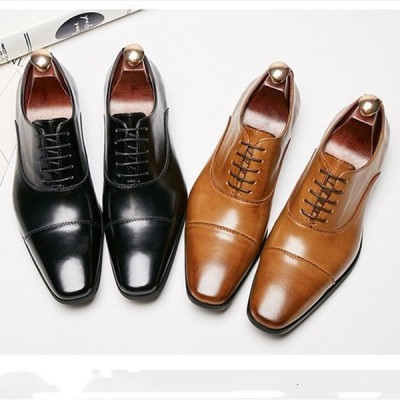 ビジネスシューズ メンズ シューズ 革靴 男性用 サラリーマン 紳士靴 カジュアルシューズ お洒落 レースアップ オールシーズン
